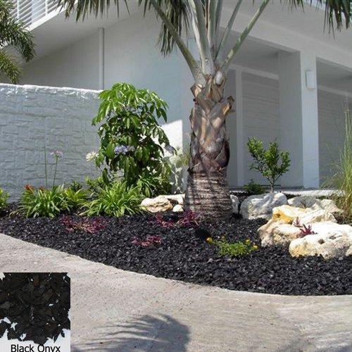 YARDWISE Landscape Rubber Mulch 75 Cu.Ft. Pallet-Black Onyx Color
