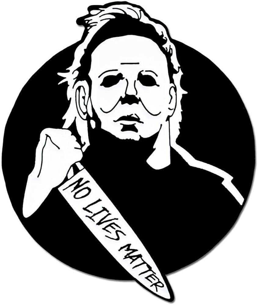 PinMart Michael Myers No Lives Matter Halloween Enamel Lapel Pin