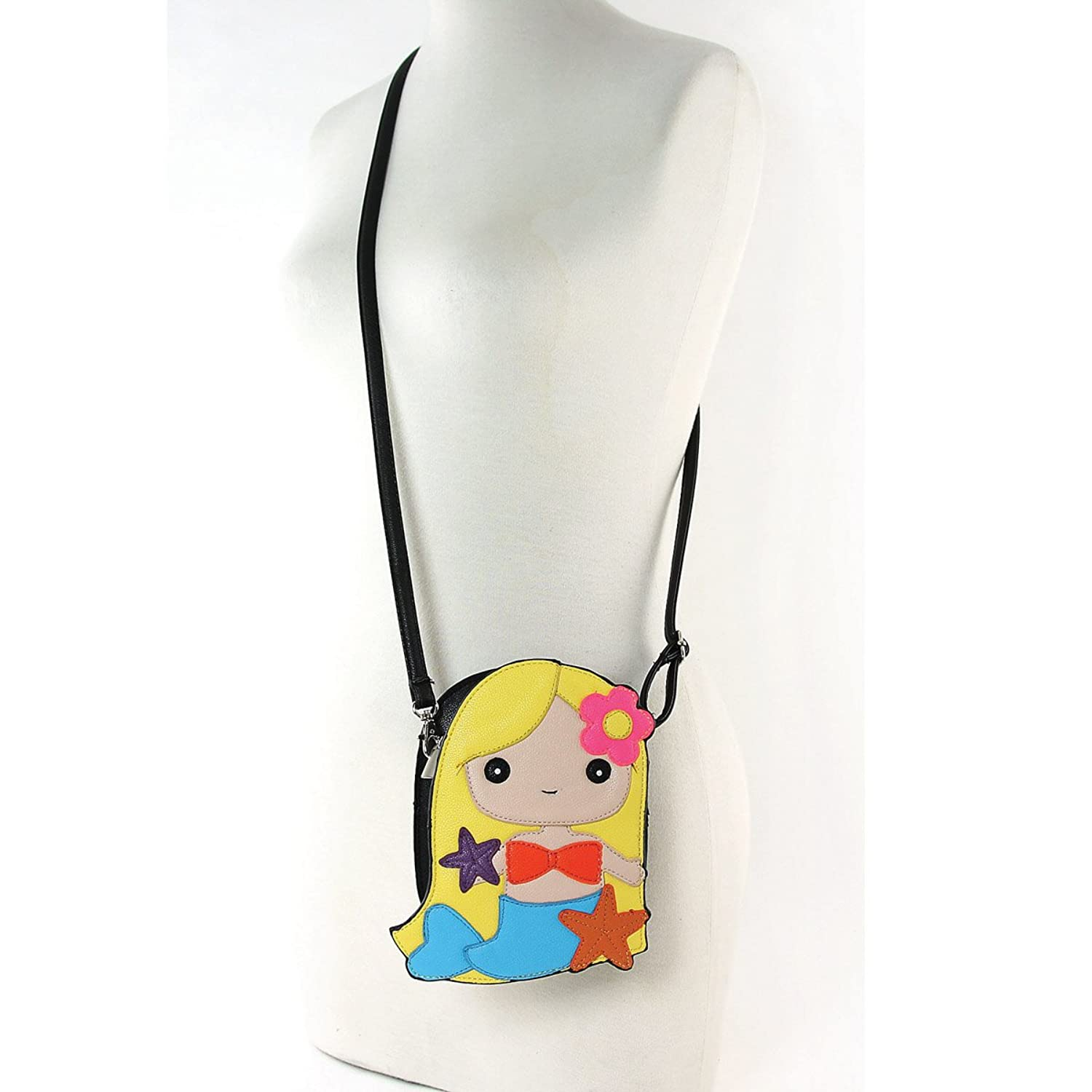 Adorable Mermaid Girl Shoulder Crossbody Bag