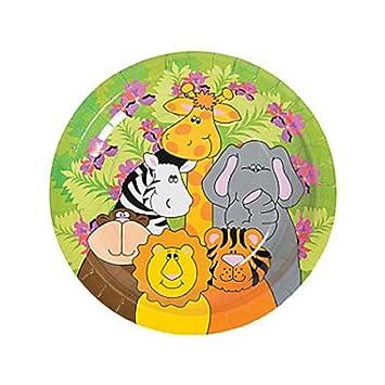 24 ~ Zoo Animal Paper Plates ~ 9\u0026quot; ...  sc 1 st  Amazon.com & Amazon.com: 24 ~ Zoo Animal Paper Plates ~ 9\
