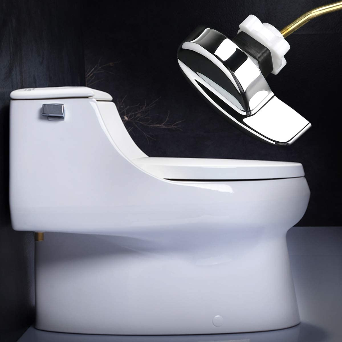 Angle Fitting Side Flush Tank Cistern Metal Lever Toilet Handle for TOTO Kohler