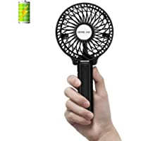 OPOLAR Hand Held Battery Operated Face Fan, Small Rechargeable Portable Travel Fan with 2200mAh Battery, Foldable, 3…
