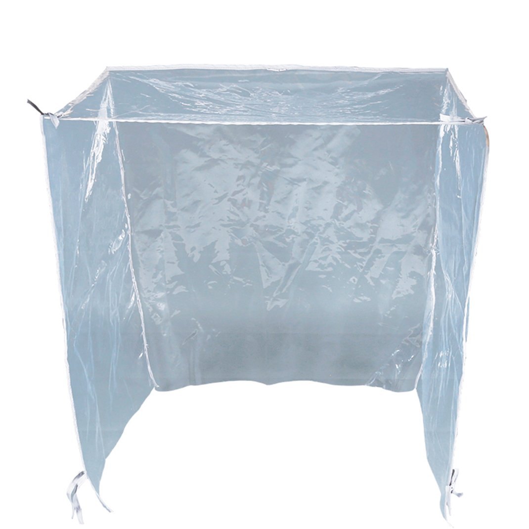 Pet Wire Dog Crate Visible Covers Kennel Transparent Rain Cover EVA Protector XS
