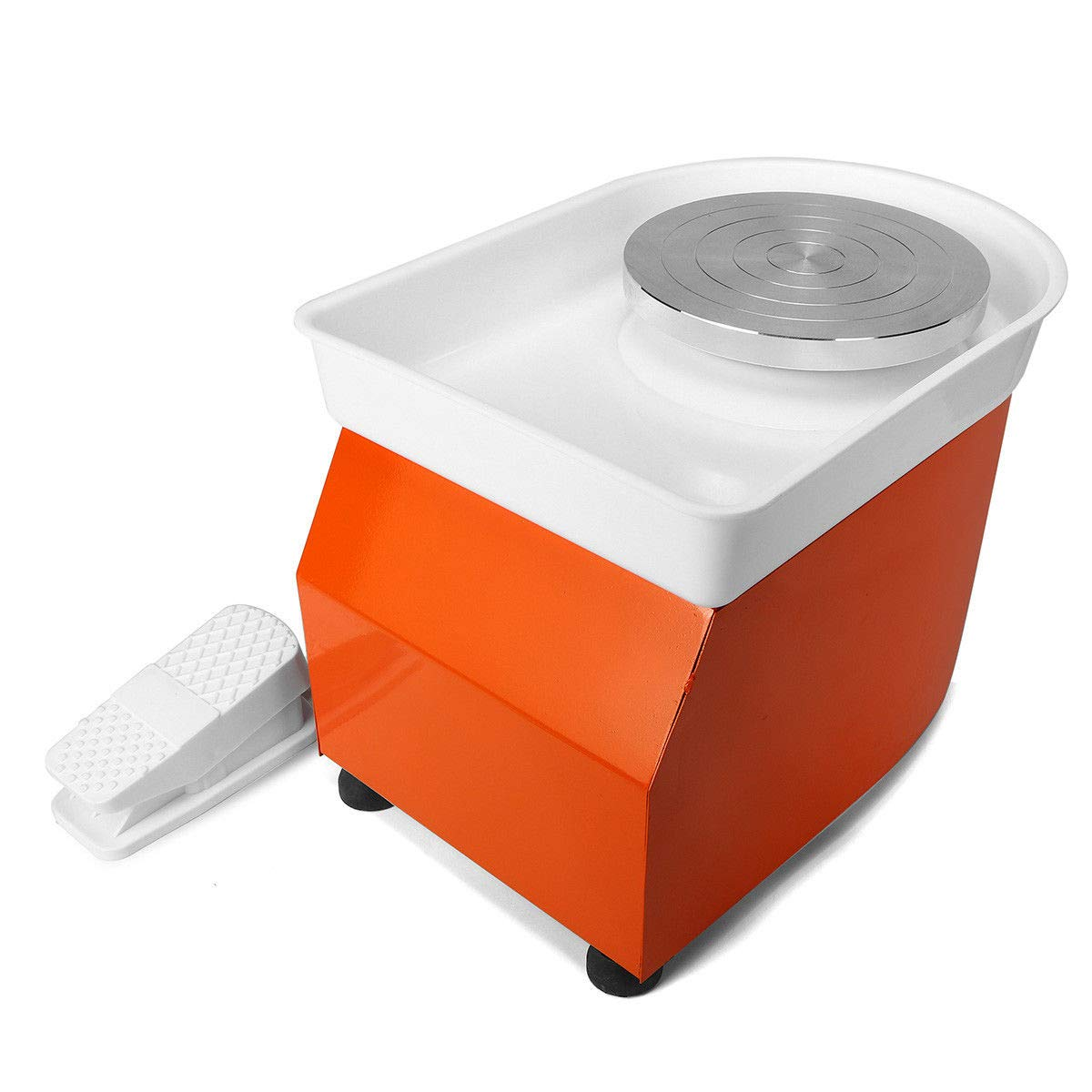 110V 350W Electric Pottery Wheel Machine with Foot Pedal Ceramic Work Clay Craft Electric Pottery Wheel DIY Clay Tool for Adults