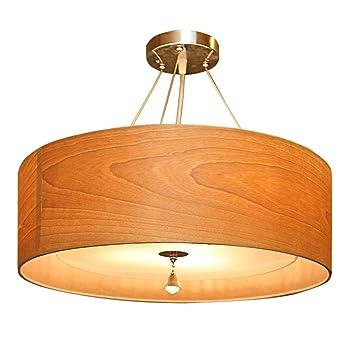 ZWL Lámparas de techo de arte de madera, sala de matrimonio ...