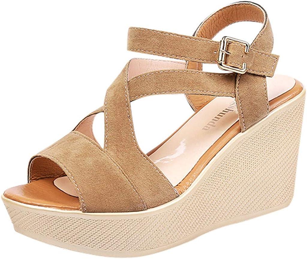 Sandalias de Vestir Plataforma tacón Alto de Playa para Mujer, QinMM Casual Zapatos de Baño Verano Fiesta Chanclas