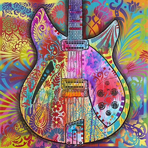 (Vintage 12 String by Dean Russo Art Print, 14 x 14 inches)