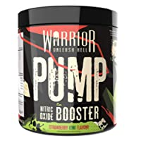 Warrior Pump Pre Workout Extreme Nitric Oxide Booster 30 Servings (Strawberry Kiwi)