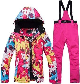 Conjunto de pantalones de chaqueta de esquí para mujer traje de ...