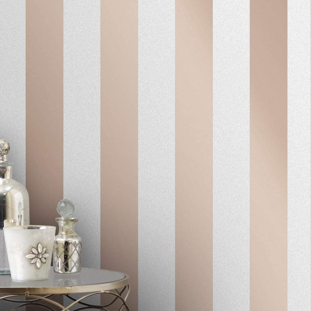 Fine D/écor FD42246 color oro rosa dise/ño de rayas M/ónaco
