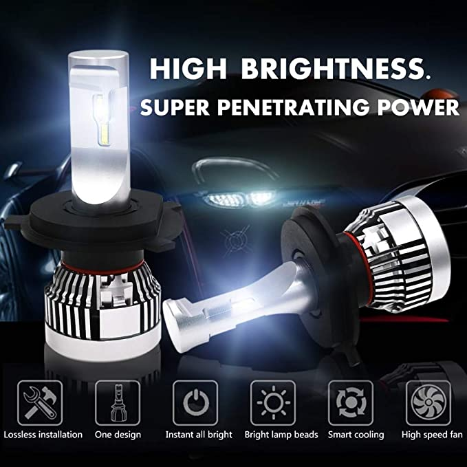 Branco 120W H4 H7 9005 9006 H11 H8 Led Bulb Lumileds Luxeon Zes Led Chips Car Light White Driving Lamps Lampochka Bombillas - (Socket Type: H7) - - Amazon. ...