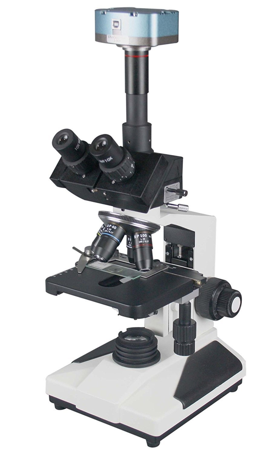 Radical 2500x Professional Research Clinical Doctor Trinocular LED Microscope w PLAN Objectives and 16 Mpix USB 3.0 Scientific Camera by Radical