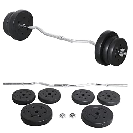 Yaheetech 55lb Olympic Barbell Dumbbell Weight Set Gym Lifting Exercise Workout Bar Curl