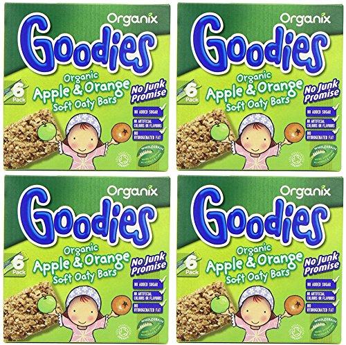 (4 PACK) - Organix - Goodies Apple & Orang Oat Bars | 6 x 30g | 4 PACK BUNDLE