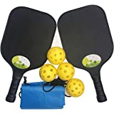 Pickleball Paddles-2 Pickleball Paddle Set,Light Weight,Power Honeycomb Core and Graphite Surface,Racket Edge Guard…