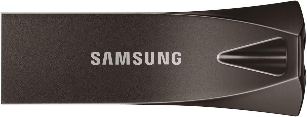 Samsung MUF-128BE4/EU 128GB 3.0 (3.1 Gen 1) Conector USB Tipo A Gris, Titanio Unidad Flash USB - Memoria USB (128 GB, 3.0 (3.1 Gen 1), Conector USB Tipo A, 300 MB/s, Sin Tapa, Gris, Titanio)