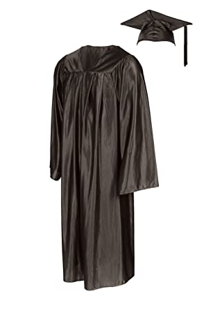 Amazon.com: American Style Graduation Gown and Cap - Shiny: Clothing