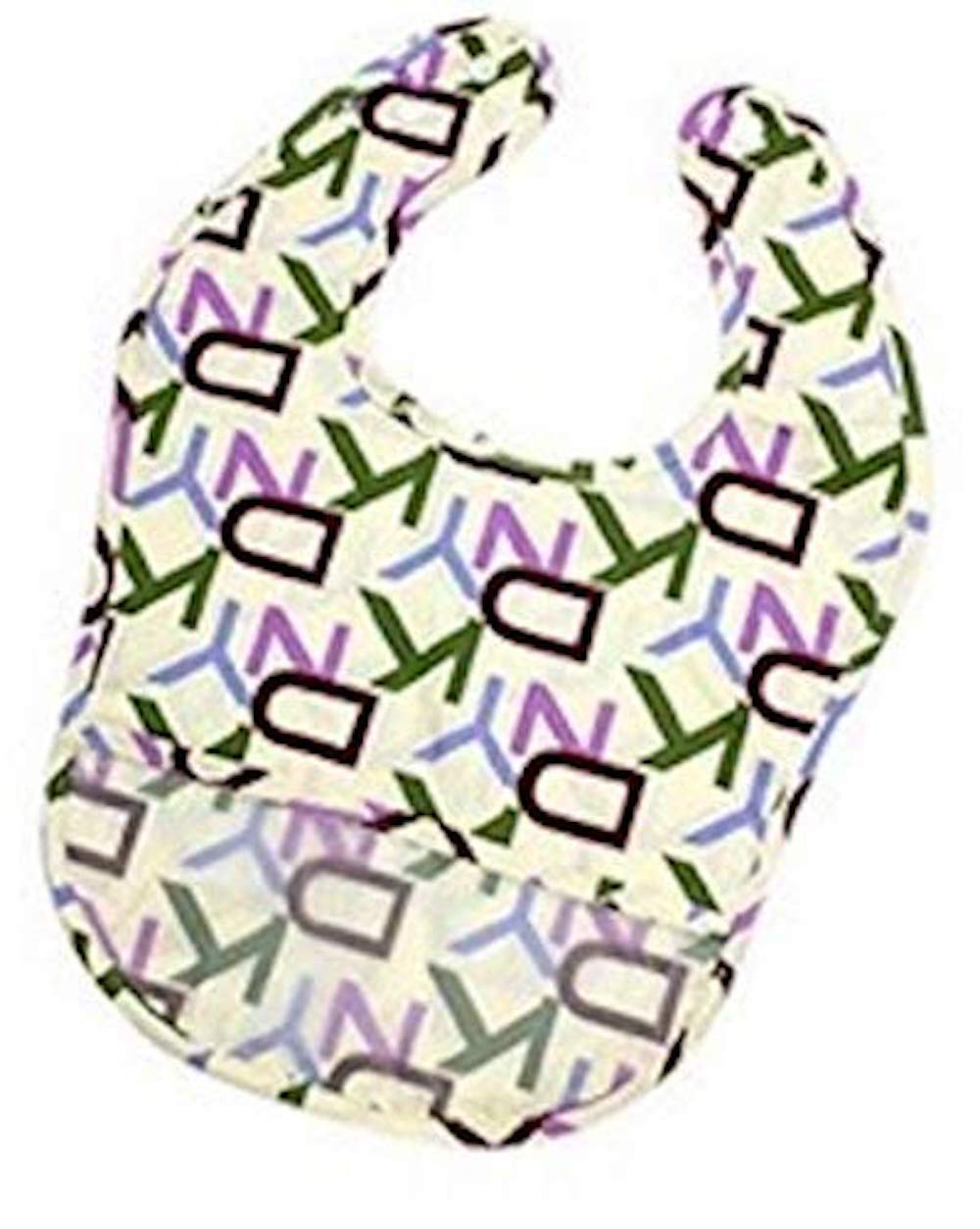 BornCare 2-Pack X-Large Waterproof Food Catching Bibs (14.5 x 10 inches) Fits Babies 0-36 Months, Adjustable Snap Closure