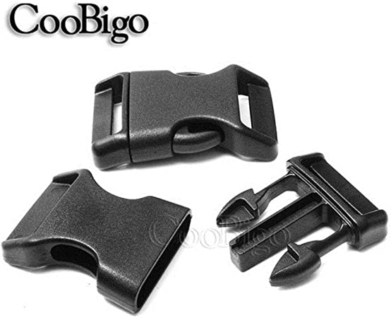 "3//4/"" Black Contoured Side Release Buckles For Paracord Bracelets Pets Collar"