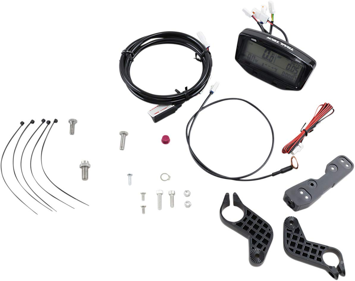 Trail Tech 712-116 Black Striker Speedometer Digital Gauge Kit with Volt Meter by Trail Tech