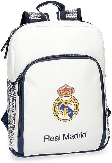 Real Madrid RM Leyenda Mochila Tipo Casual, 36 cm, 11.66 litros, Blanco: Amazon.es: Ropa y accesorios