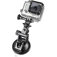 Mantona zuignaphouder Mini (met 1/4 inch schroefdraad en GoPro-aansluiting, geschikt voor GoPro Hero 6 5 4 3+ 3 2 1, Session en andere compatibele Action Cams, lichte digitaal, compacte camera's)