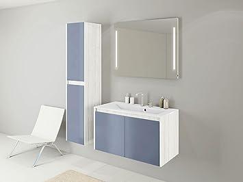 Blaue Badmöbel sieper badmöbel badmöbelset kabru mit hochschrank unterschrank