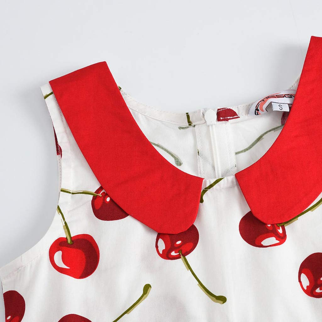 TIFENNY Autumn Kids Girl Tassel Striped Ruffles Princess Party Dress