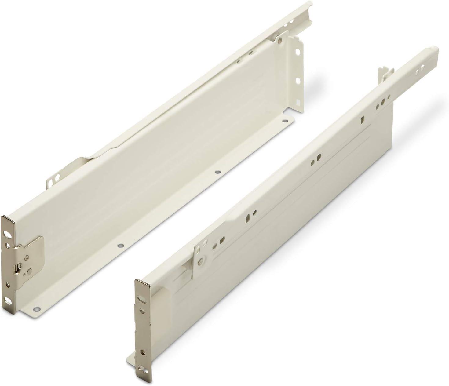 54 mm//Nennl/änge 500 mm cremewei/ß Schublade Schubkasten von SO-TECH Schubladensystem MetallBox Zargenh/öhe