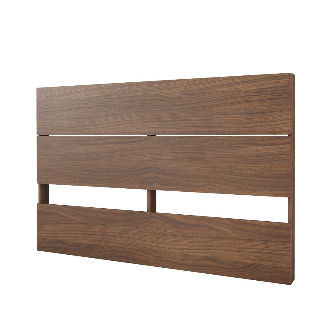 Nexera 365931 Plank Effect Headboard, Queen, Walnut by Nexera
