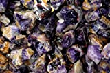 Fantasia Materials: 18 lbs Banded Deep Purple Amethyst - (Select 1 to 18 lbs) - Raw Natural Crystals for Cabbing, Cutting, Lapidary, Tumbling, Polishing, Wire Wrapping, Wicca and Reiki Crystal Healing