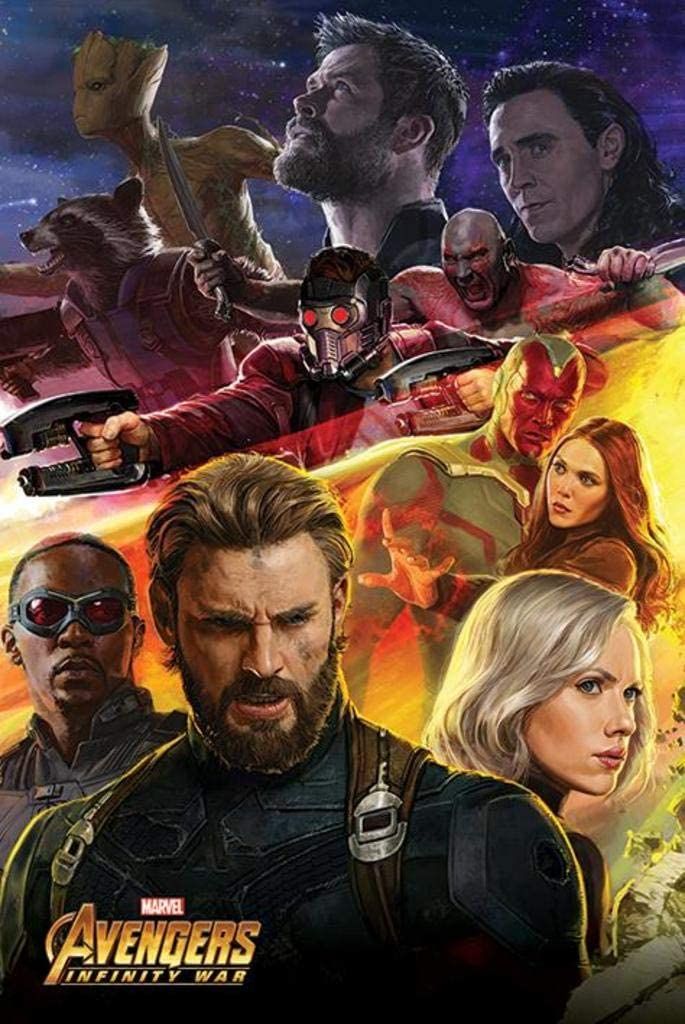 "Avengers: Infinity War - Movie Poster/Print (Captain America & Team) (Size: 24"" x 36"")"