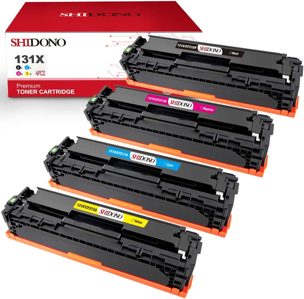 Shidono Remanufactured Toner Cartridge Replacement for HP 131X CF210X 131A CF210A CF211A CF212A CF213A for Laserjet Pro 200 Color MFP M251nw M251n M251 MFP M276nw M276n Printer (4 Pack)