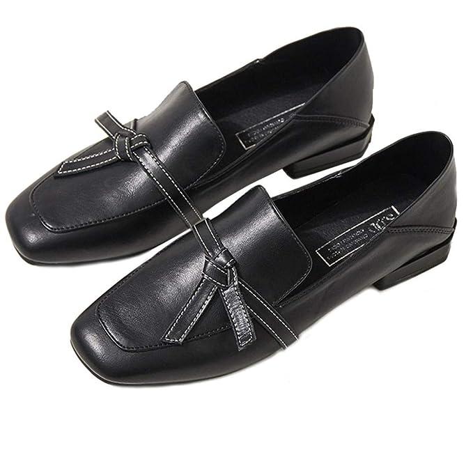 Mocasines Zapatos De Baile De Ballet Planos Para Mujer Cuero Artificial Nudo De Mariposa Mocasín Confort Cuadrado Con Guisantes Zapatos: Amazon.es: Ropa y ...