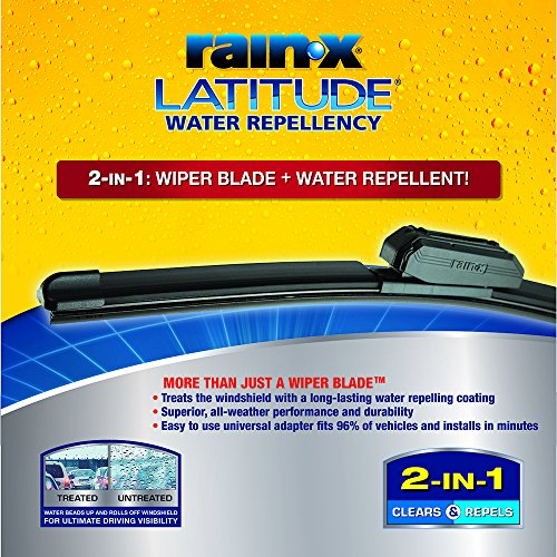Rain-X 5079282-2 Latitude 2-IN-1 Water Repellency Wiper Blade, 28