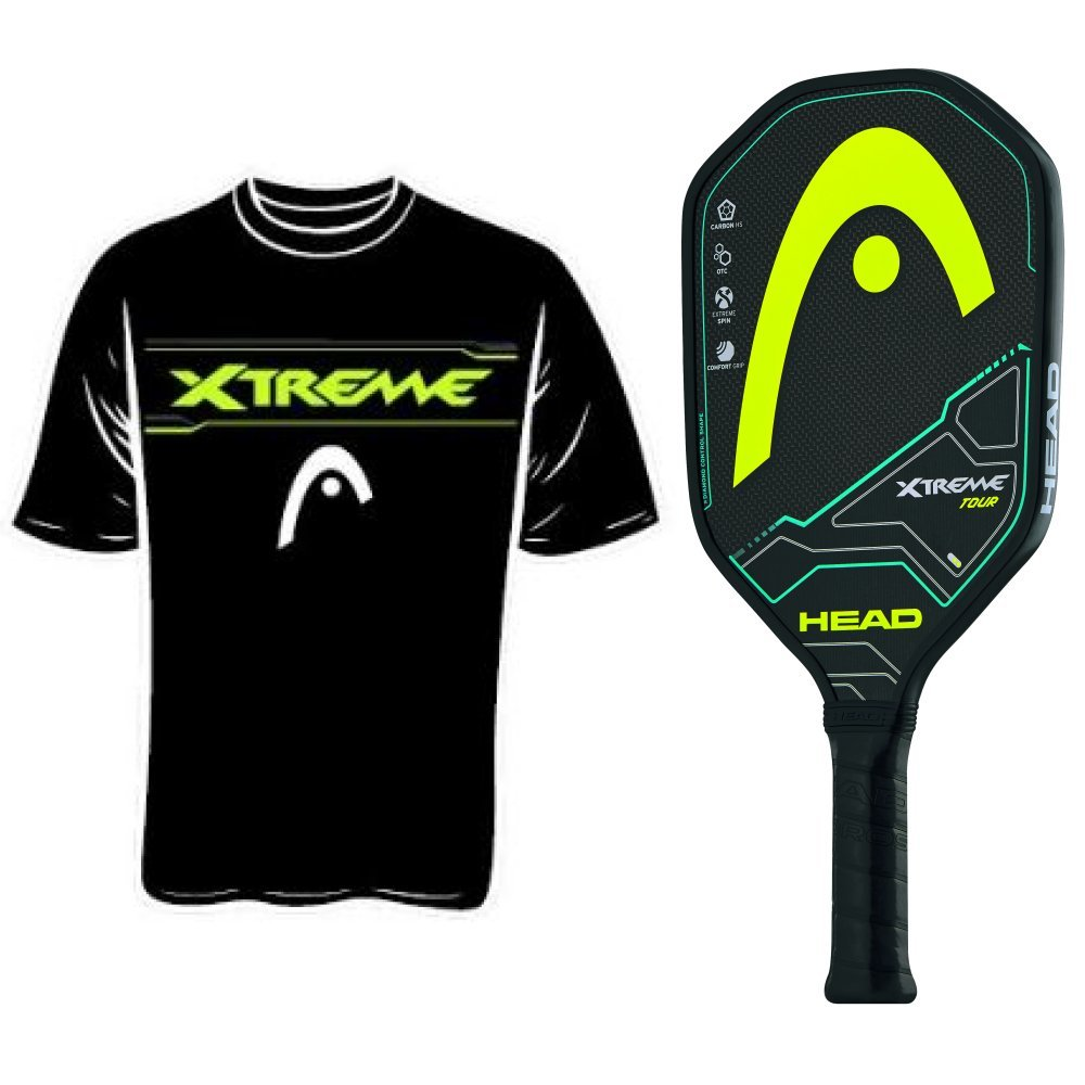 Head Extreme Tour Pickleball Paddle With Pickleball Shirt Large New