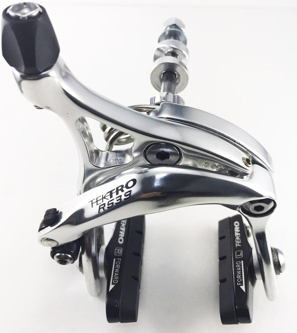 Nutted//Hex nut Old School Nut Front//Rear//Set//Silver Black Tektro R539 Dual Pivot Road Brake Caliper Long arms 47-59mm