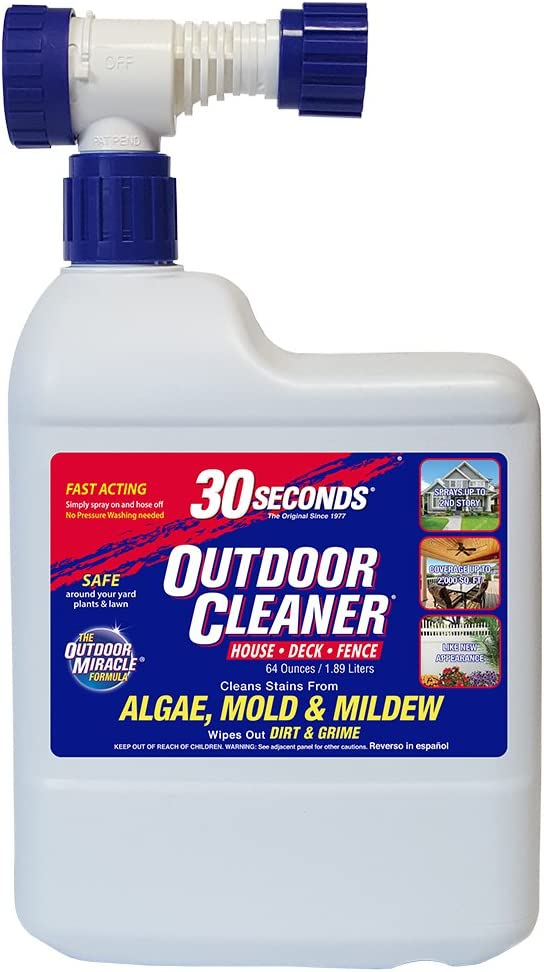 30 SECONDS Outdoor Cleaner, 64oz Hose End Attachment