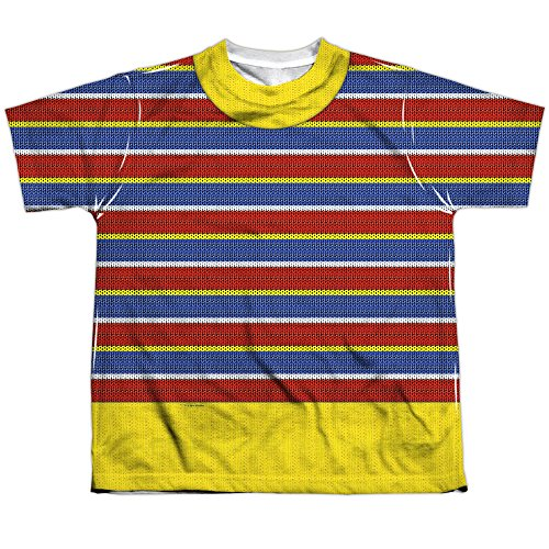 Sesame Street TV Show Bert Costume Boys Youth Front/Back Print T-Shirt Tee