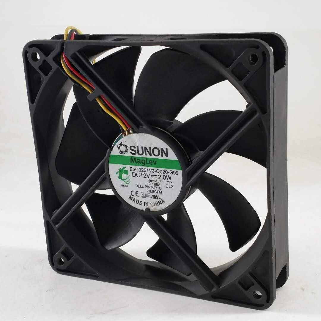 for SUNON E5C0251V3-Q020-G99 12025 12CM 12V 2.0W Power Supply Chassis Cooling Fan