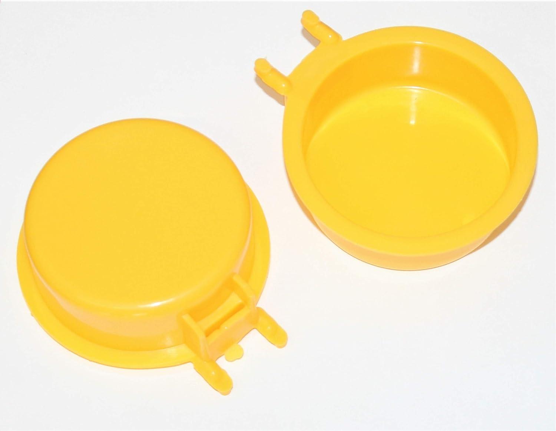 WallPeg Pegboard Accessories Plastic Part Bins Yellow 1 4 Pegboard Bins 5 ea. Model AM 505