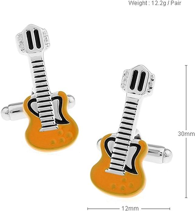 Aeici Gemelos para Camisa Hombre Gemelos de Boda Guitarra Gemelos ...