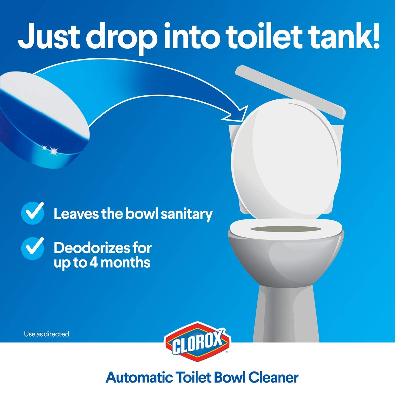 Miraculous Clorox Automatic Toilet Bowl Cleaner Tablets Bleach Blue Rain Clean 4 Count Beatyapartments Chair Design Images Beatyapartmentscom