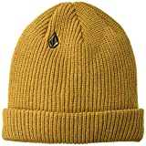 Volcom Men's Full Stone Beanie, Old Gold, One Size fits All