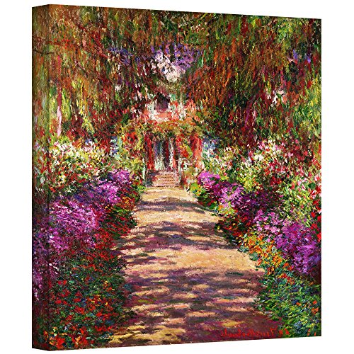 "ArtWall ""A Pathway in Monet's Garden Gallery Wrapped Canvas Art by Claude Monet, 24 by 24-Inch from ArtWall"