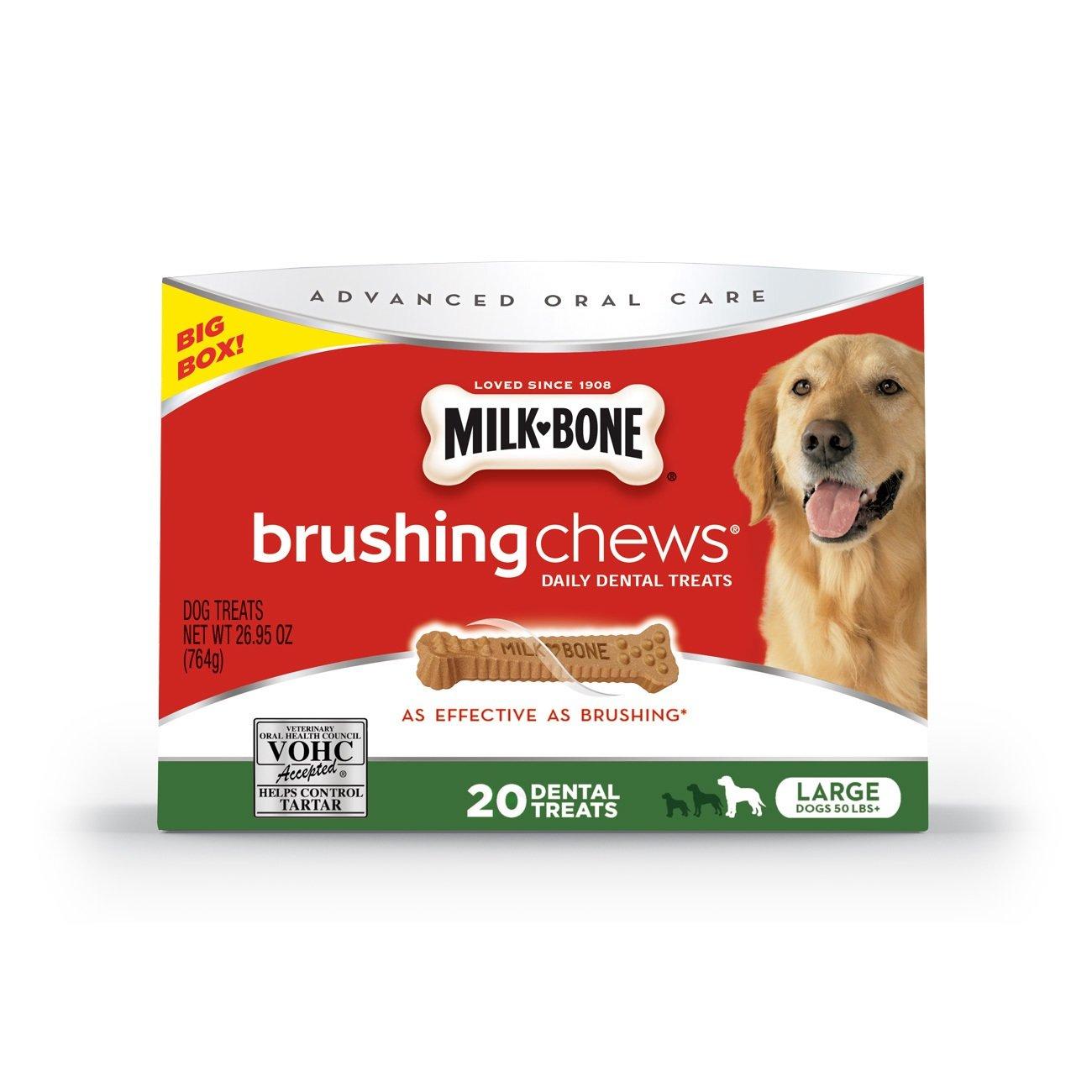 Milk-Bone Brushing Chews Daily Dental Dog Treats, Large/26.95 oz.