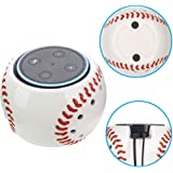 COOSA Special Baseball Holder Stand With Handmade Ceramic for Echo Dot 2nd and 1st Generation Amazon Alexa Protective Accesories Desk Holder Stand for Enhanced Stability (Baseball)
