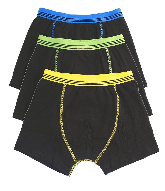 Boys 6 Pack Coloured Boxer Trunks