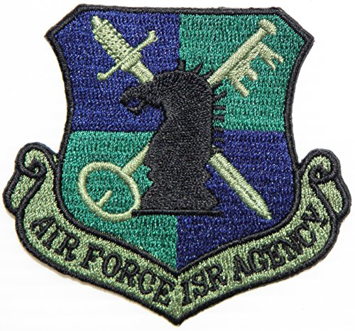 AIR FORCE ISR AGENCY USAF US Army Military Logo Shield Jacket Uniform Patch Sew Iron on Embroidered Sign Badge Costume