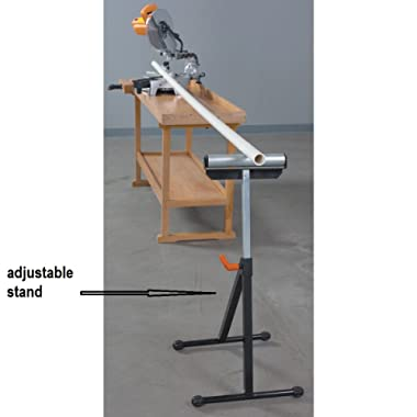 New Heavy Duty 135 Lbs Capacity Ball Bearing Roller Stand Boards Pipes Metal on Table Saws Drill Presses Band Saws Mechanic Shop